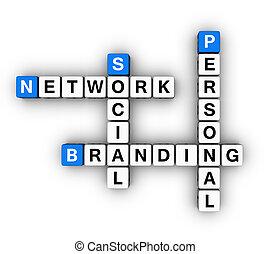 társadalmi, személyes, bélyegez, hálózat