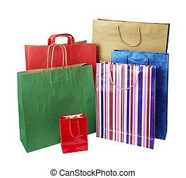 táska, fogyasztás, kiskereskedelem bevásárlás