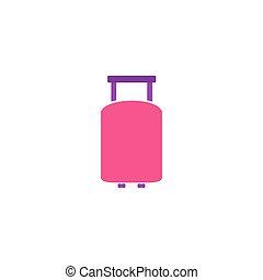 táska, utazás, vektor, ikon