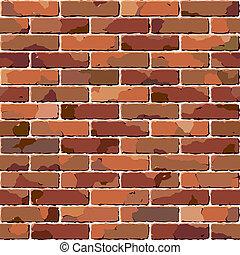 tégla, wall., öreg, seamless, texture.