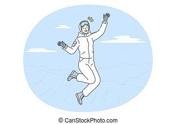 tél activities, fogalom, síelés, snowboarding