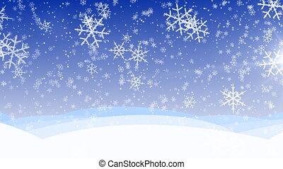 tél, hó, hd, bukás, loop.
