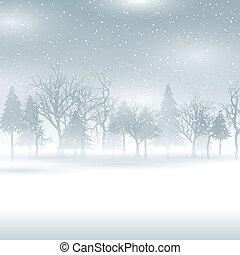 tél parkosít, havas