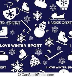 tél sport, motívum, seamless