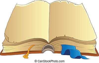 téma, 2, öreg, könyv, kép