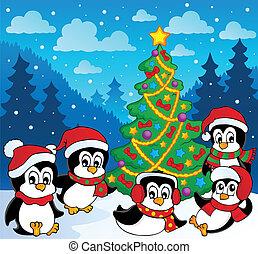 téma, pingvin, tél, 3