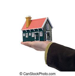 tényleges, épület, -, birtok, kéz