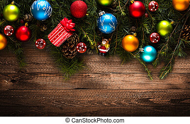 tényleges, apróságok, színes, keret, sóvárog fa, zöld, vidám christmas