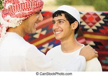 tényleges, arab, hiteles, ethnicity, emberek