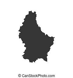 térkép, árnykép, luxemburg