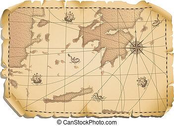 térkép, öreg