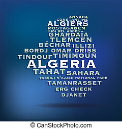 térkép, algéria