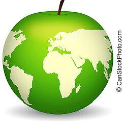 térkép, alma