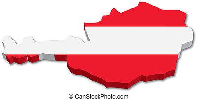 térkép, austria lobogó, 3
