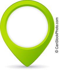 térkép, elhelyezés, gombostű, ikon