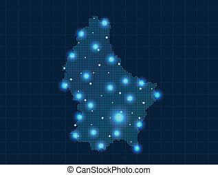 térkép, fénykép, luxemburg