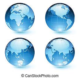 térkép, földdel feltölt, földgolyó, sima