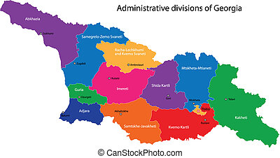 térkép, grúzia