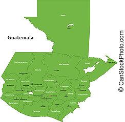térkép, guatemala, zöld