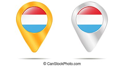 térkép háttér, faszegek, luxembourg., lobogó, fehér