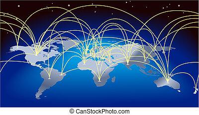 térkép háttér, világkereskedelem