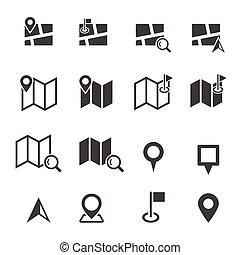 térkép, ikon