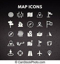 térkép, ikonok