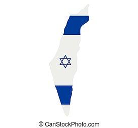 térkép, israel lobogó