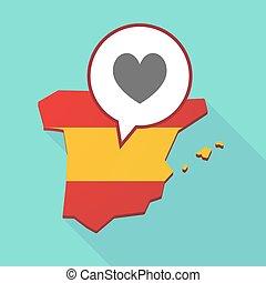 térkép, játék, szív, kártya, piszkavas, aláír, spanyolország
