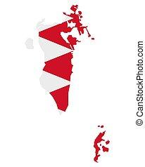 térkép, lobogó, bahamas