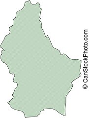 térkép, -, luxemburg