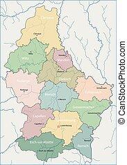 térkép, luxemburg