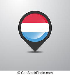 térkép, luxemburg, gombostű