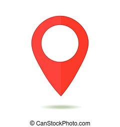 térkép, mód, lakás, jelkép., tervezés, elhelyezés, icon., mutató, gps