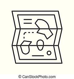térkép, mód, liget, kapcsolódó, vektor, ikon, egyenes, szórakozás