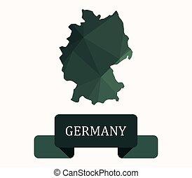 térkép, németország