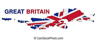 térkép, nagy-britannia, háttér, fehér, 3