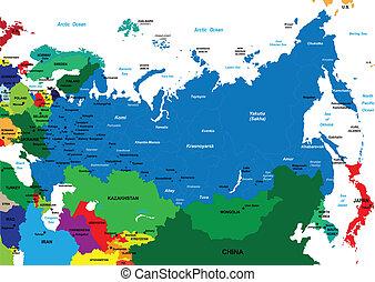 térkép, politikai, oroszország