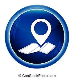 térkép tekebábu, ábra, gombol, elhelyezés, ikon