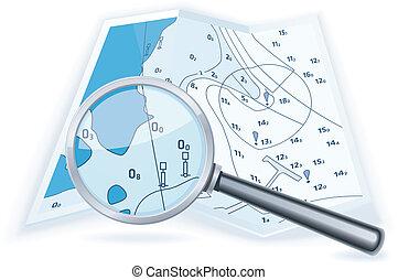 térkép, tengeri