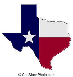 térkép, texas