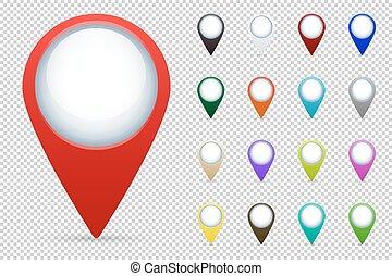térkép, vektor, állhatatos, irányzók