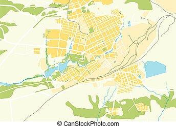 térkép, vektor, geo, város