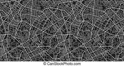 térkép, vektor, seamless, struktúra