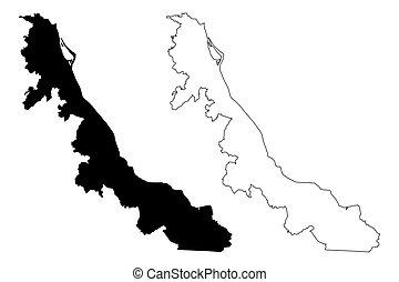 térkép, veracruz