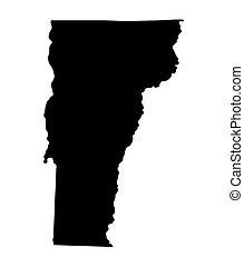 térkép, vermont black