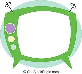 tévé, művészet, televízió, csíptet, retro
