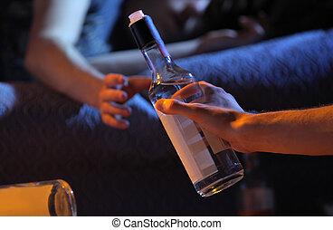 tízenéves kor, szenvedély, fogalom, alkohol