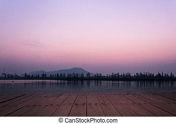 tó, kilátás