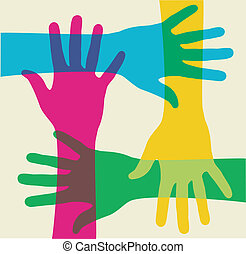 többszínű, csapatmunka, kézbesít